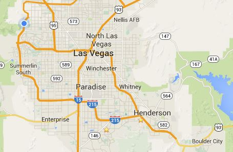 What Is Henderson To Las Vegas HendersonLas Vegas Nevada Real - Las vegas map nevada